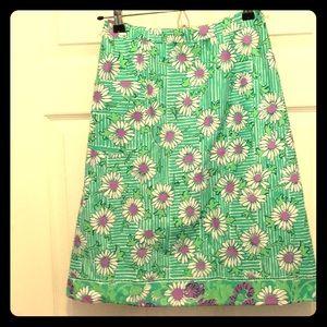 Vintage Lilly Pulitzer Skirt Daisy Tiger print